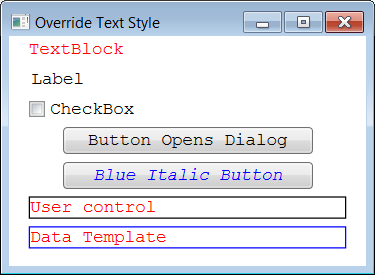 Changing default text syle